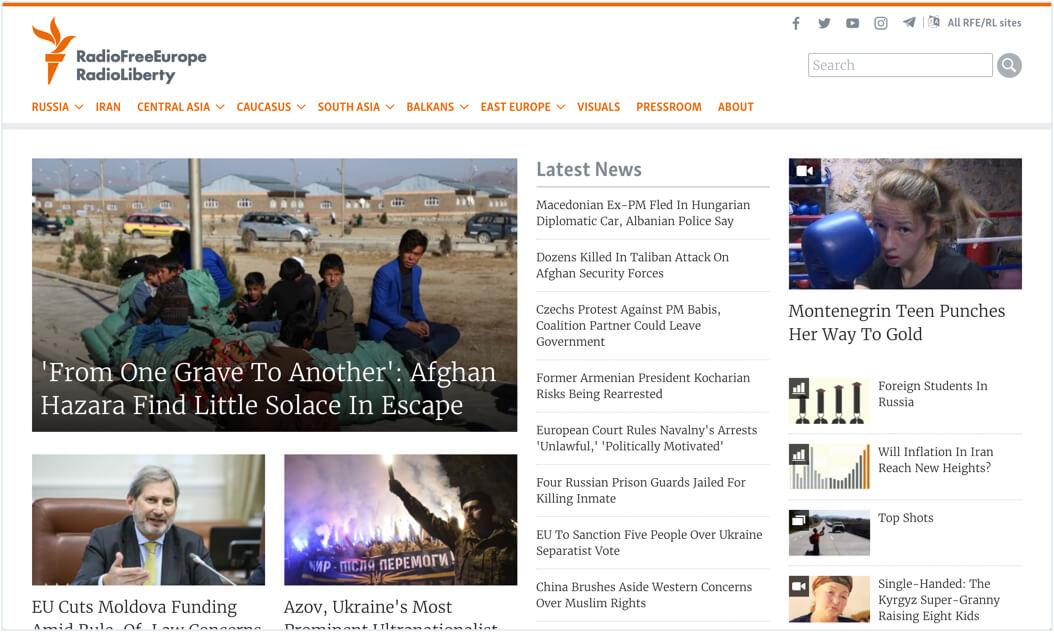 Radio Free Europe Website