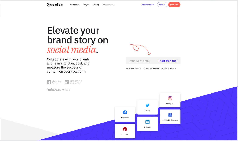 Sendible Website