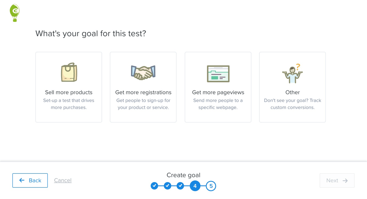 Easily Create A/B Test Goals and Conversions