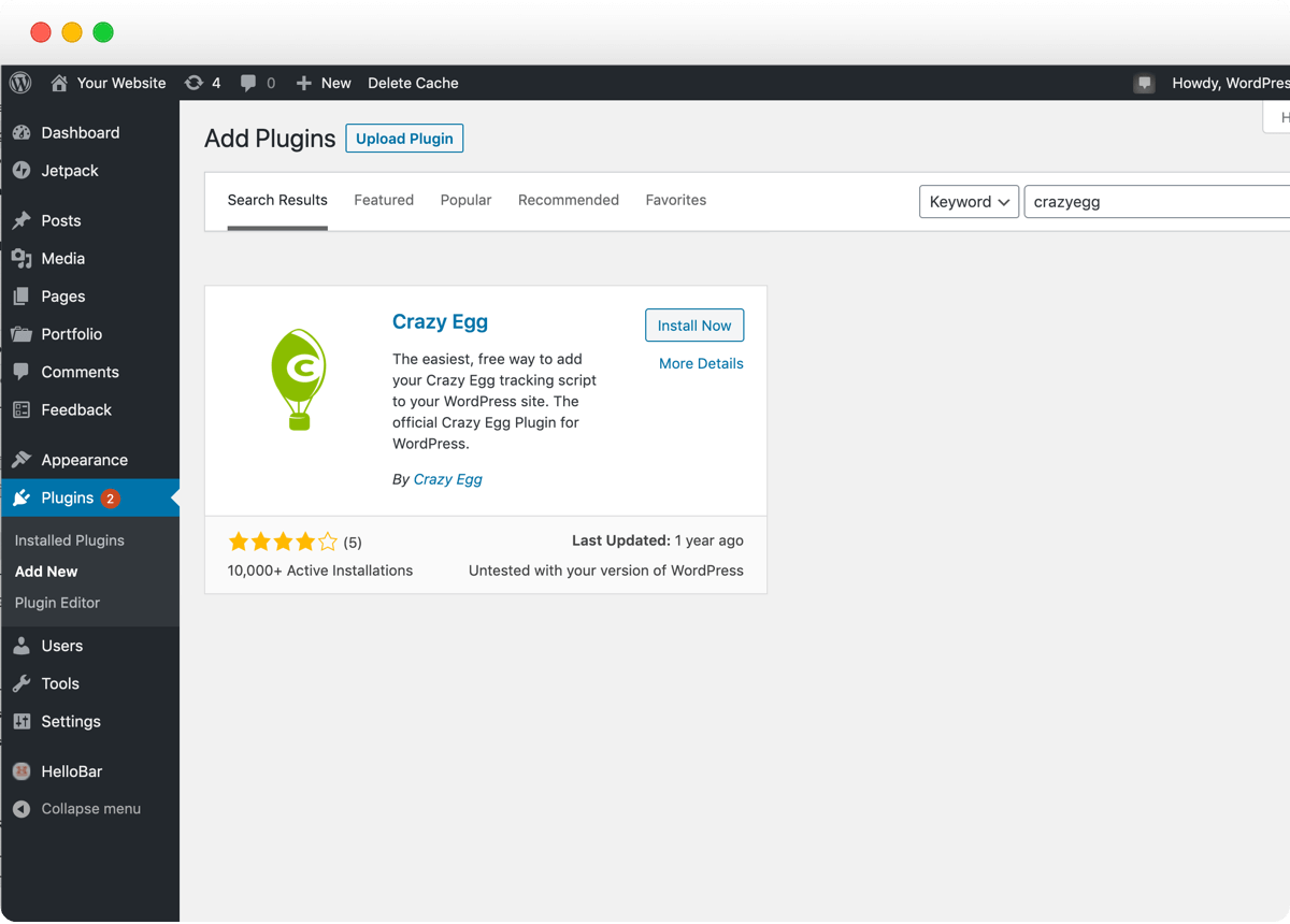 Crazy Egg WordPress Plugin