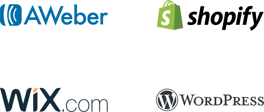 Crazy egg integration with aweber, shopify, wix.com and wordpress